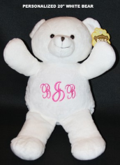 Personalized Pals White Snow Bear