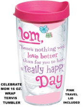 Hallmark Celebrate Mom Wrap 16 oz. and 24 oz. Tervis Tumblers