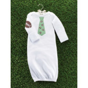 Mud Pie Football Necktie Infant Sleep Gowns