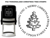 PSA Personalized Christmas Tree Stamps