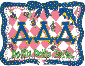 GREEK Delta Delta Delta (Tri Delta) Sorority Pillowcase