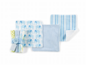 Set of 3 Baby Boy Wash Cloth Set by Mud Pie