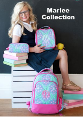 Personalized Marlee Backpacks and Lunch Boxes and Pencil Cases