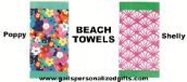 Personalized Beach Towels in 2 Different Color Choices
