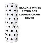 Room It Up RETRO DOT White and Black Polka Dot Lounge Chair Covers