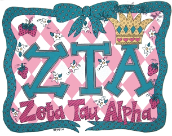 GREEK Zeta Tau Alpha Sorority Pillowcase