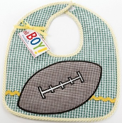 Football Baby Bibs by Mud Pie