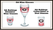 University of GA Tervis Wine and Shot Glasses