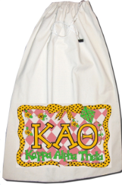 GREEK Kappa Alpha Theta Sorority Laundry Bag