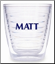 Personalized Tervis Tumblers & Mugs with Block Font