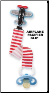 Mud Pie Baby Airplane Pacifier Clips