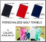 Personalized Golf Towels in 5 Different Color Choices