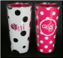 Gigi Pink and White and Black and White 16 oz. Signature Tumblers
