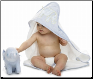 Elephant Seersucker Hooded Towel by Mud Pie
