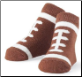 Mud Pie Football Socks Size 0-12 Months