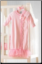 Mud Pie Pink Velour Kimono Sleep Gown - Size 0-3 months