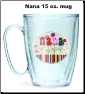 Hallmark Nana Flowers Tervis Tumblers and Mugs