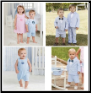 Personalized Mud Pie Blue Seersucker Suits and Shortalls