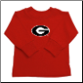GA Bulldogs Red Long Sleeve T-shirts