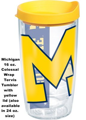 c66d8b0c6c6 University of Michigan Tervis Tumblers and Mugs and Water Bottles and Wrap  Tumblers. Click to enlarge image(s)