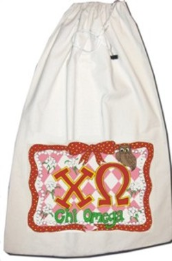 GREEK Chi Omega Sorority Laundry Bag
