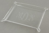 "Personalized 8"" x 10"" x 1"" Engraved Acrylic Trays"