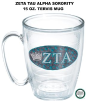 Zeta Tau Alpha Sorority Tervis Tumblers and Mugs and Water Bottles