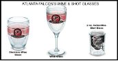 NFL Atlanta Falcons Tervis Wine and Shot Glasses