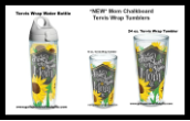 Mom Chalkboard 16 and 24 oz and  Water Bottle Wrap Tervis Tumbler