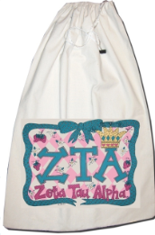 GREEK Zeta Tau Alpha Laundry Bag