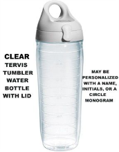 Clear or Personalized Tervis Tumbler Water Bottles