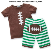 Mud Pie Baby Football 2 Piece Set