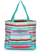 "Monogrammed ""Laguna Stripe"" Large Athletic Tote Bag from Room It Up"