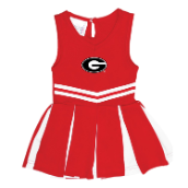 GA Bulldogs Red and White Cheer Dresses