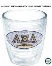 Alpha Xi Delta Sorority Tervis Tumblers and Mugs and Water Bottles