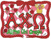 GREEK Alpha Chi Omega Sorority Pillowcase