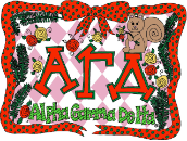 GREEK Alpha Gamma Delta Sorority Pillowcase