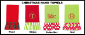 Personalized Christmas Hand Towels
