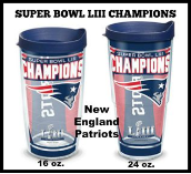NE Patriots Tervis Tumblers and Mugs and Wrap Tumblers and Water Bottles
