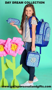 Personalized Day Dream Backpacks and Lunch Boxes