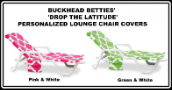 Buckhead Betties Drop the Latitude Pink or Green Lounge Chair Covers