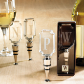 Mud Pie Cosmopolitan Home Initial Bottle Toppers