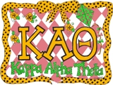 GREEK Kappa Alpha Theta Sorority Pillowcase