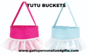 (1) Tutu Easter Buckets - Blank or Personalized