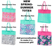 Personalized Tote Bags in 5 New Designs