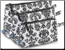 "Monogrammed ""Paris"" Black & White 3 Piece Cosmetic Case from Room It Up"