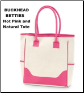 Buckhead Betties Personalized Hot Pink and Natural Large Tote Bags