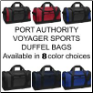 Port Authority Sports Duffel Bags in 8 Color Choices