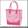 Buckhead Betties Personalized Kensington Hot Pink and White Totes