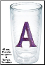 Personalized Purple Sequins Single Initial Tervis Tumblers and Mugs and Water Bottles